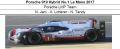 ◎予約品◎ Porsche 919 Hybrid No.1 Le Mans 2017  Porsche LMP Team  N. Jani - A. Lotterer - N. Tandy