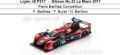◎予約品◎ Ligier JS P217 ‐ Gibson No.23 Le Mans 2017  Panis Barthez Competition F. Barthez - T. Buret - N. Berthon