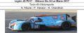 ◎予約品◎ Ligier JS P217 ‐ Gibson No.34 Le Mans 2017  Tockwith Motorsports  N. Moore - P. Hanson - K. Chandhok