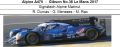 ◎予約品◎ Alpine A470 ‐ Gibson No.36 Le Mans 2017  Signatech Alpine Matmut  R. Dumas - G. Menezes - M. Rao
