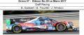 ◎予約品◎ Oreca 07 ‐ Gibson No.39 Le Mans 2017  Graff Racing E. Guibbert - E. Trouillet - J. Winslow