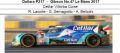 ◎予約品◎ Dallara P217 ‐ Gibson No.47 Le Mans 2017  Cetilar Villorba Corse  R. Lacorte - G. Sernagiotto - A. Belicchi