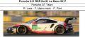 ◎予約品◎ Porsche 911 RSR No.91 Le Mans 2017  Porsche GT Team  R. Lietz - F. Makowiecki - P. Pilet
