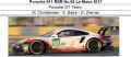 ◎予約品◎ Porsche 911 RSR No.92 Le Mans 2017  Porsche GT Team  M. Christensen - K. Estre - D. Werner