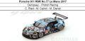 ◎予約品◎ Porsche 911 RSR No.77 Le Mans 2017  Dempsey‐Proton Racing  C. Ried - M. Cairoli - M. Dienst