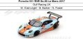 ◎予約品◎ Porsche 911 RSR No.86 Le Mans 2017  Gulf Racing UK M. Wainwright - B. Barker - N. Foster