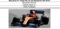 ◎予約品◎ McLaren F1 Team MCL34 No.55 3rd Brazilian GP 2019 C.サインツ Jr.    With Pit Board