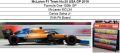 ◎予約品◎ McLaren F1 Team No.55 USA GP 2019 F1 100th GP McLaren MCL34 C.サインツ Jr. With Pit Board