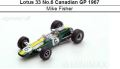 ◎予約品◎ Lotus 33 No.6 Canadian GP 1967  Mike Fisher