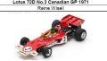◎予約品◎ Lotus 72D No.3 Canadian GP 1971  Reine Wisell