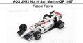 ◎予約品◎ AGS JH22 No.14 San Marino GP 1987  Pascal Fabre