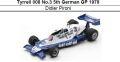 ◎予約品◎ Tyrrell 008 No.3 5th German GP 1978 Didier Pironi