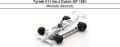 ◎予約品◎ Tyrrell 011 No.4 Dutch GP 1981 Michele Alboreto