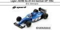 ◎予約品◎ Ligier JS39B No.25 3rd German GP 1994 Eric Bernard