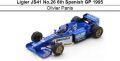 ◎予約品◎ Ligier JS41 No.26 6th Spanish GP 1995 Olivier Panis