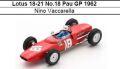 ◎予約品◎Lotus 18-21 No.18 Pau GP 1962 Nino Vaccarella