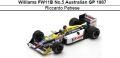 ◎予約品◎ Williams FW11B No.5 Australian GP 1987 Riccardo Patrese