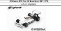 ◎予約品◎ Williams FW No.20 Brazilian GP 1975 Arturo Merzario