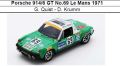 ◎予約品◎ Porsche 914/6 GT No.69 Le Mans 1971  G. Quist - D. Krumm