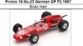 ◎予約品◎Protos 16 No.25 German GP F2 1967 Brian Hart