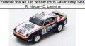 ◎予約品◎ Porsche 959 No.186 Winner Paris Dakar Rally 1986  R. Metge - D. Lemoine