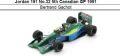 ◎予約品◎ Jordan 191 No.32 5th Canadian GP 1991 Bertrand Gachot