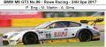 ◎予約品◎ BMW M6 GT3 No.99 - Rowe Racing - 24H Spa 2017 P. Eng - M. Martin - A. Sims
