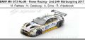 ◎予約品◎ BMW M6 GT3 No.98 - Rowe Racing - 2nd 24H Nurburgring 2017 M. Palttala - N. Catsburg - A. Sims - R. Westbrook
