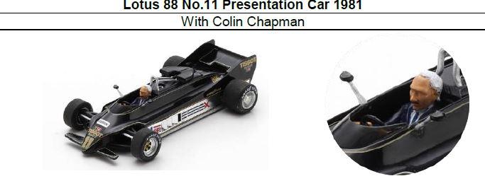 ◎予約品◎ Lotus 88 No.11 Presentation Car 1981 With Colin Chapman
