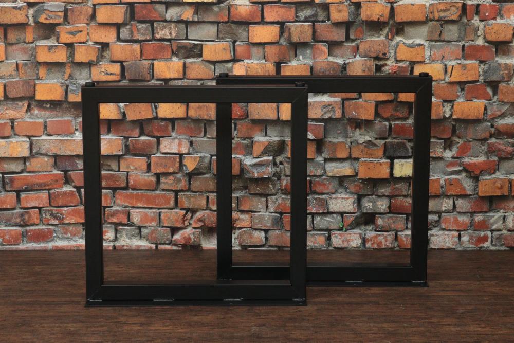 【鉄脚】#50 H680mm【四角タイプ】2本組ダイニングテーブル脚 DIY用 カフェ風な雰囲気のテーブル足(DIY)