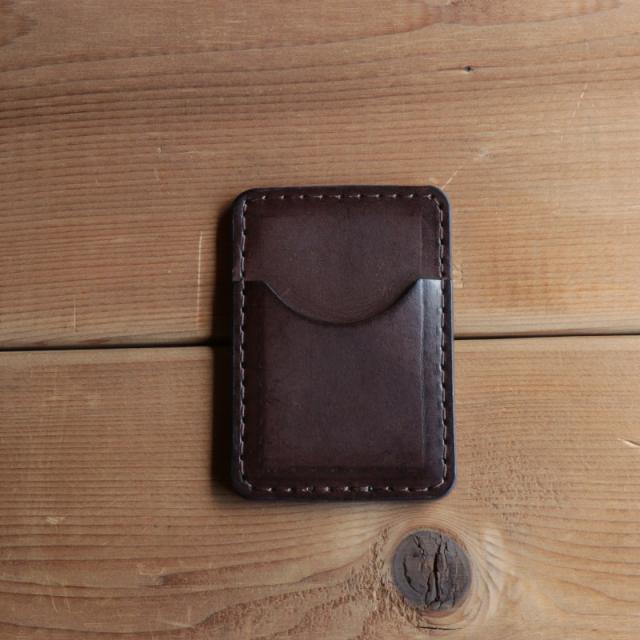 【TurnBuckle leather】【送料無料】本革 レザーカードケース チョコ