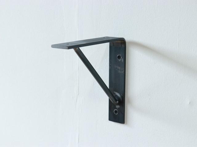 【Mサイズ単品】L型アイアン棚受け15cmx15cm ウレタン塗装 ブラケット 金具
