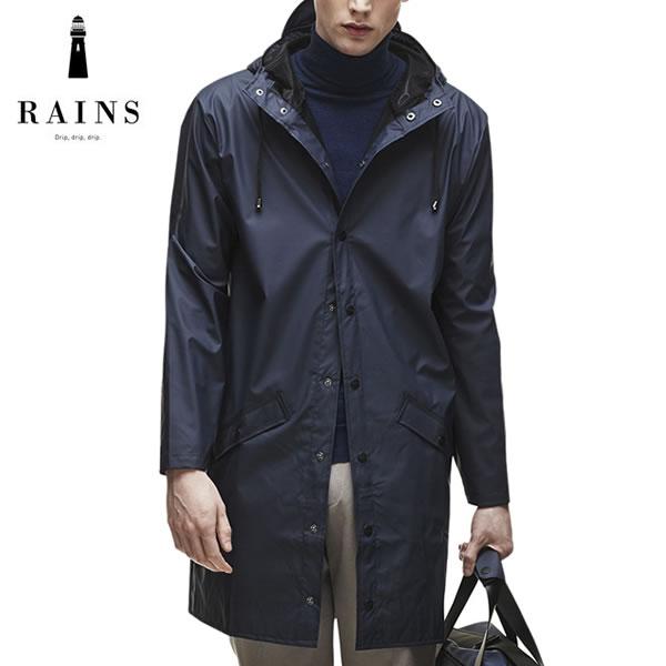 RAINS (レインズ) レインロングジャケット レインコート ウォータープルーフ ジャケット / Rains Long Jacket - Blue(Navy)