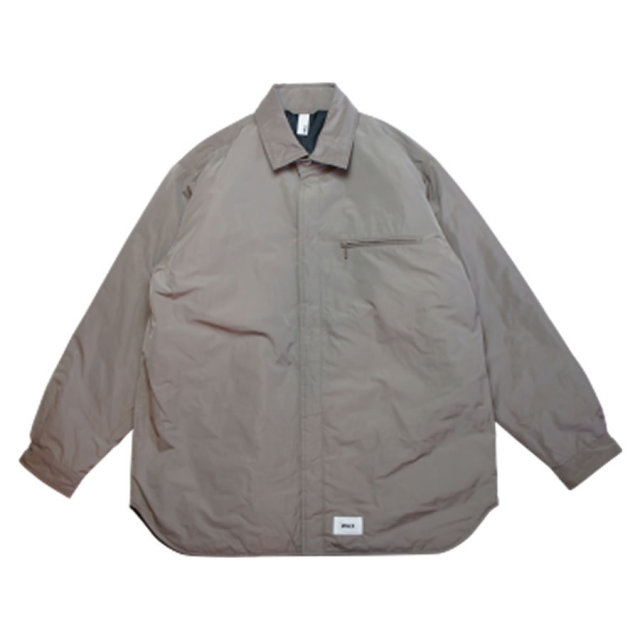 WAX(ワックス) / THE HARD MAN(ザハードマン) / 中綿 シャツジャケット / SHIRTS STYLE JACKET - GREY / WX-0118 / メンズ