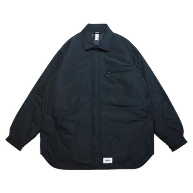 WAX(ワックス) / THE HARD MAN(ザハードマン) / 中綿 シャツジャケット / SHIRTS STYLE JACKET - BLACK / WX-0118 / メンズ