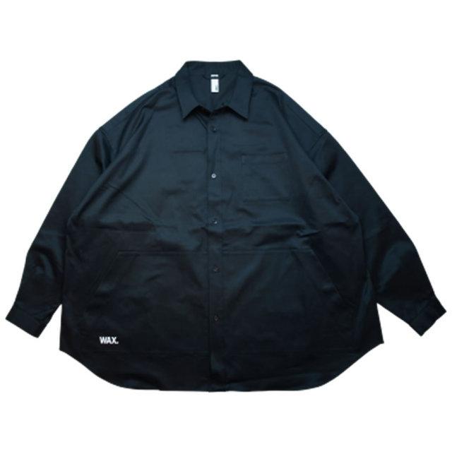 WAX(ワックス) / THE HARD MAN(ザハードマン) /  オーバーサイズ ジャケット / TOOL POCKET JACKET - BLACK / WX-0177 / メンズ