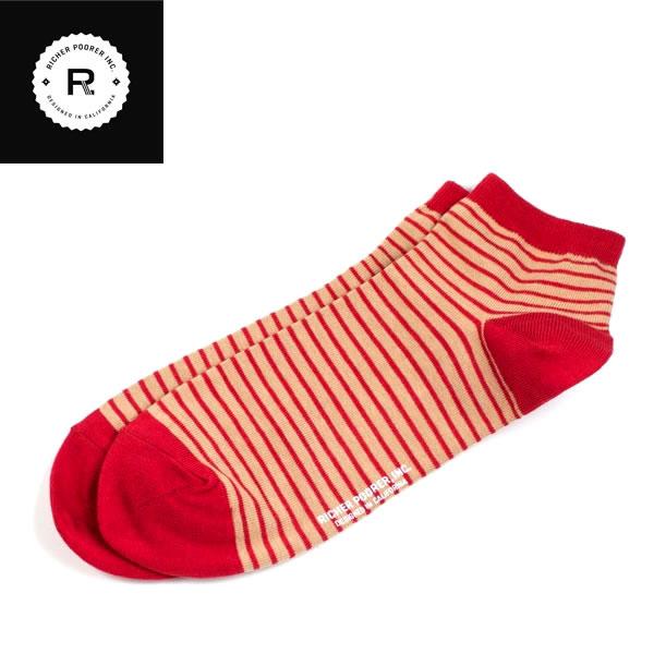 LA・カリフォルニア発 / RICHER POORER リッチャープアラー / アンクルーソックス 靴下 / メンズ / VETERAN ANKLE / RED