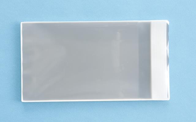 OPP袋 テープ付タイプ フィルムの厚み30μ 105×155ミリ 100枚入り (定形サイズ ハガキ用)