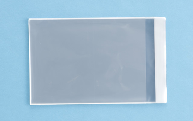OPP袋 テープ付タイプ フィルムの厚み30μ 160×220ミリ 100枚入り (定形サイズ A5用)