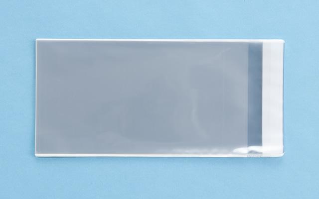 OPP袋 テープ付タイプ フィルムの厚み30μ 130×240ミリ 100枚入り