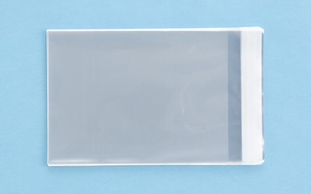 OPP袋 テープ付タイプ フィルムの厚み30μ 153×205ミリ 100枚入り (定形サイズ  DVD縦型サイズ)