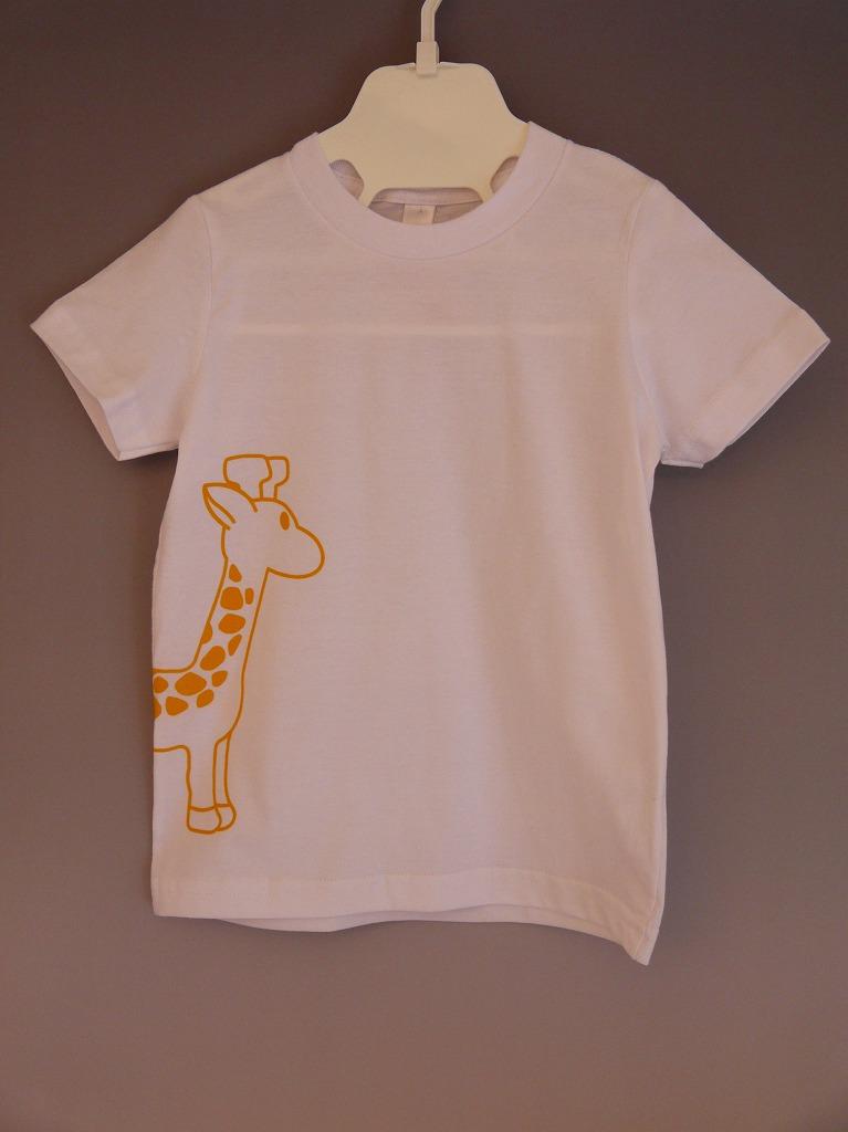 <コットン100%>Tシャツ(ホワイトgiraffe)/マニー&サイモン
