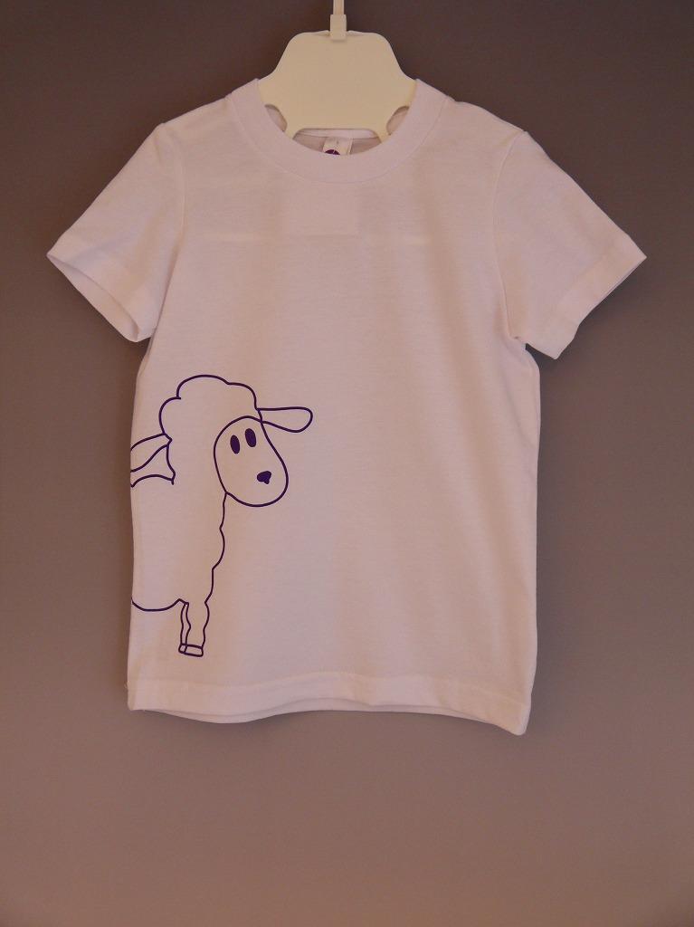 <コットン100%>Tシャツ(ホワイトlamb)/マニー&サイモン