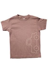 <オーガニックコットン100%>Tシャツ(グレイtruck)/マニー&サイモン