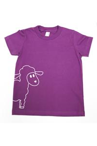 <オーガニックコットン100%>Tシャツ(パープルlamb)/マニー&サイモン
