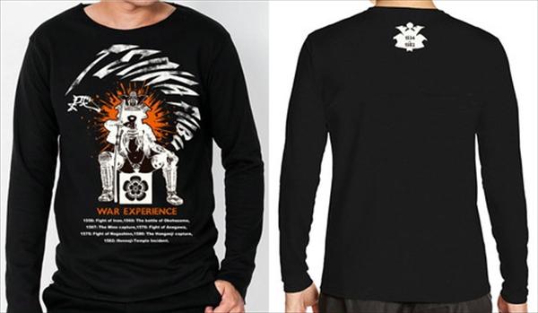カジュアル戦国 織田信長 「天下布武」 ロングTシャツ