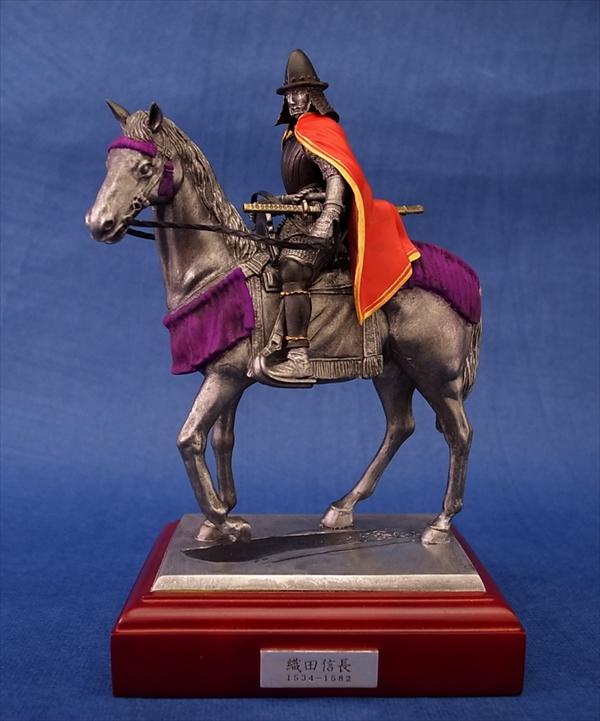 ヒストリカルフィギュア 織田信長(騎馬像) 赤マント彩色版
