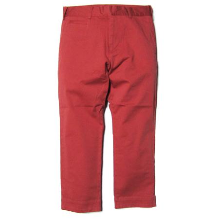 SMOKEYWOOD コットンカラー9分パンツ RED
