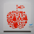 アートパネル 北欧風白雪姫 50角 【受注生産品お届けまで約10日】【キャンバスアート】【ウォールアートパネル】【ファブリックパネル】