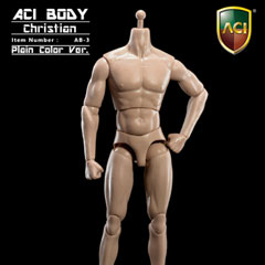 【ACI】1/6 Medium Built Body - Christian (Unpainted)Item No.: AB-3 1/6スケール男性ボディ素体